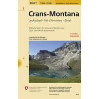 Bundesamt - Swisstopo Topografische Wandelkaart 3305T Crans - Montana