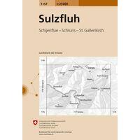 Bundesamt - Swisstopo Topografische Kaart 1157 Sulzfluh