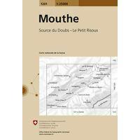 Bundesamt - Swisstopo Topografische Kaart 1201 Mouthe
