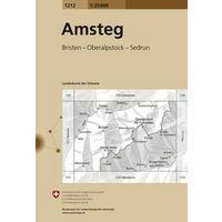 Bundesamt - Swisstopo Topografische Kaart 1212 Amsteg