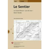 Bundesamt - Swisstopo Topografische Kaart 1221 Le Sentier