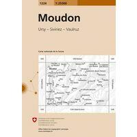 Bundesamt - Swisstopo Topografische Kaart 1224 Moudon