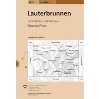 Bundesamt - Swisstopo Topografische Kaart 1228 Lauterbrunnen