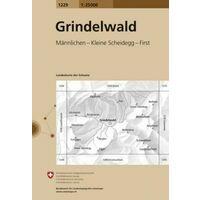 Bundesamt - Swisstopo Topografische Kaart 1229 Grindelwald