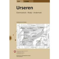 Bundesamt - Swisstopo Topografische Kaart 1231 Urseren