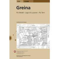 Bundesamt - Swisstopo Topografische Kaart 1233 Greina