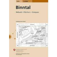 Bundesamt - Swisstopo Topografische Kaart 1270 Binntal