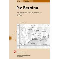 Bundesamt - Swisstopo Topografische Kaart 1277 Piz Bernina