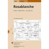 Bundesamt - Swisstopo Topografische Kaart 1326 Rosablanche