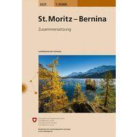Bundesamt - Swisstopo Topografische Kaart 2521 St-Moritz - Bernina