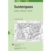 Undesamt - Swisstopo Topografische Kaart 255 Sustenpas