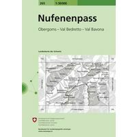 Bundesamt - Swisstopo Topografische Kaart 265 Nufenenpass