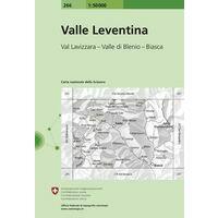 Bundesamt - Swisstopo Topografische Kaart 266 Valle Leventina