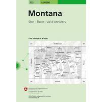 Bundesamt - Swisstopo Topografische Kaart 273 Montana