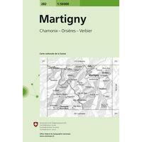 Bundesamt - Swisstopo Topografische Kaart 282 Martigny