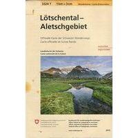Bundesamt - Swisstopo Topografische Wandelkaart 3324T Lötschental