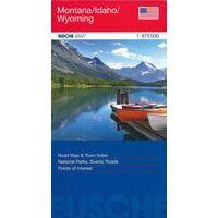 Busche Maps Wegenkaart Montana Idaho Wyoming