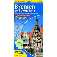 BVA-ADFC Fietskaart Bremen Und Umgebung