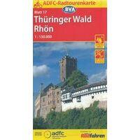 BVA-ADFC Fietskaart 17 Thüringer Wald Rhön