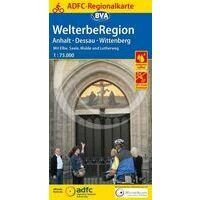 BVA ADFC Fietskaart Anhalt - Dessau - Wittenberg