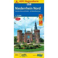 BVA ADFC Fietskaart Niederrhein Nord