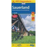 BVA ADFC Fietskaart Sauerland 1:75.000