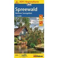 BVA-ADFC Fietskaart Spreewald Berliner Seengebiet