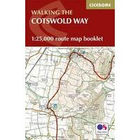 Cicerone Walking The Cotswolds Way Routekaart 1:25.000