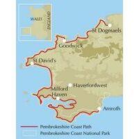 Cicerone Walking The Pembrokeshire Coast Path Routekaart