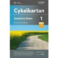 Cykelkartan Fietskaart Zweden Fietskaart 01 Skane Zuidwest
