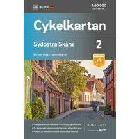 Cykelkartan Fietskaart Zweden Fietskaart 02 Skane Zuidoost