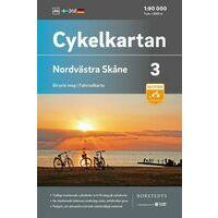 Cykelkartan Fietskaart Zweden Fietskaart 03 Skane Noordwest