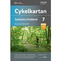 Cykelkartan Fietskaart Zweden Fietskaart 07 Smaland Zuidwest