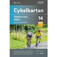 Cykelkartan Fietskaart Zweden Fietskaart 14 Vättermeer Zuid