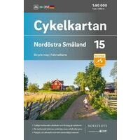 Cykelkartan Fietskaart Zweden Fietskaart 15 Smaland Noordoost