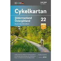 Cykelkartan Fietskaart Zweden Fietskaart 22 Södermanland