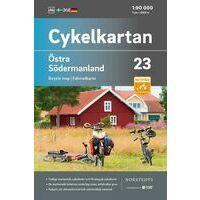 Cykelkartan Fietskaart Zweden Fietskaart 23 Sodermanland Oost