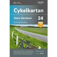 Cykelkartan Fietskaart Zweden Fietskaart 24 Varmland Zuid
