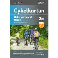 Cykelkartan Fietskaart Zweden Fietskaart 25 Varmland Oost - Närke
