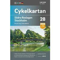 Cykelkartan Fietskaart Zweden Fietskaart 28 Roslagen Zuid