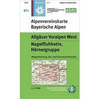 DAV Deutscher Alpenverein Topografische Kaart BY1 Allgäuer Voralpen West