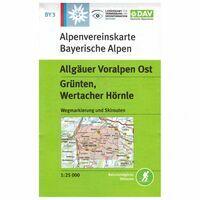 DAV Deutscher Alpenverein Topografische Kaart BY3 Allgäuer Voralpen Ost