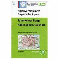 DAV Deutscher Alpenverein Topografische Kaart BY5 Tannheimer Berge