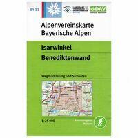 DAV Deutscher Alpenverein Topografische Kaart BY11 Isarwinkel