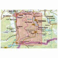 DAV Deutscher Alpenverein Topografische Kaart BY13 Mangfallgebirge West