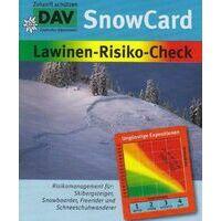 DAV Deutscher Alpenverein DAV Snowcard Lawinen -Risikio - Check