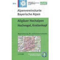 DAV Deutscher Alpenverein Topografische Kaart BY4 Allgäuer Hochalpen