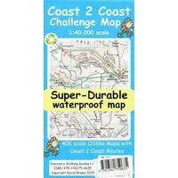 Discovery Walking Wandelkaart Coast To Coast Challenge Map