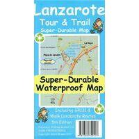Discovery Walking Wandelkaart Lanzarote Tour & Trail Map