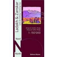 Editions Olizane Ladakh & Zanskar Noord 1:150.000